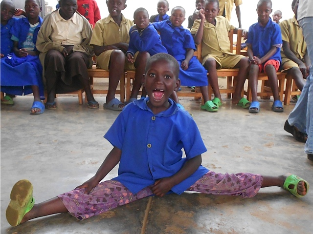 This young girl from Ngwino Nawe, Rwanda, is profoundly deaf and mute.... but a great gymnast
