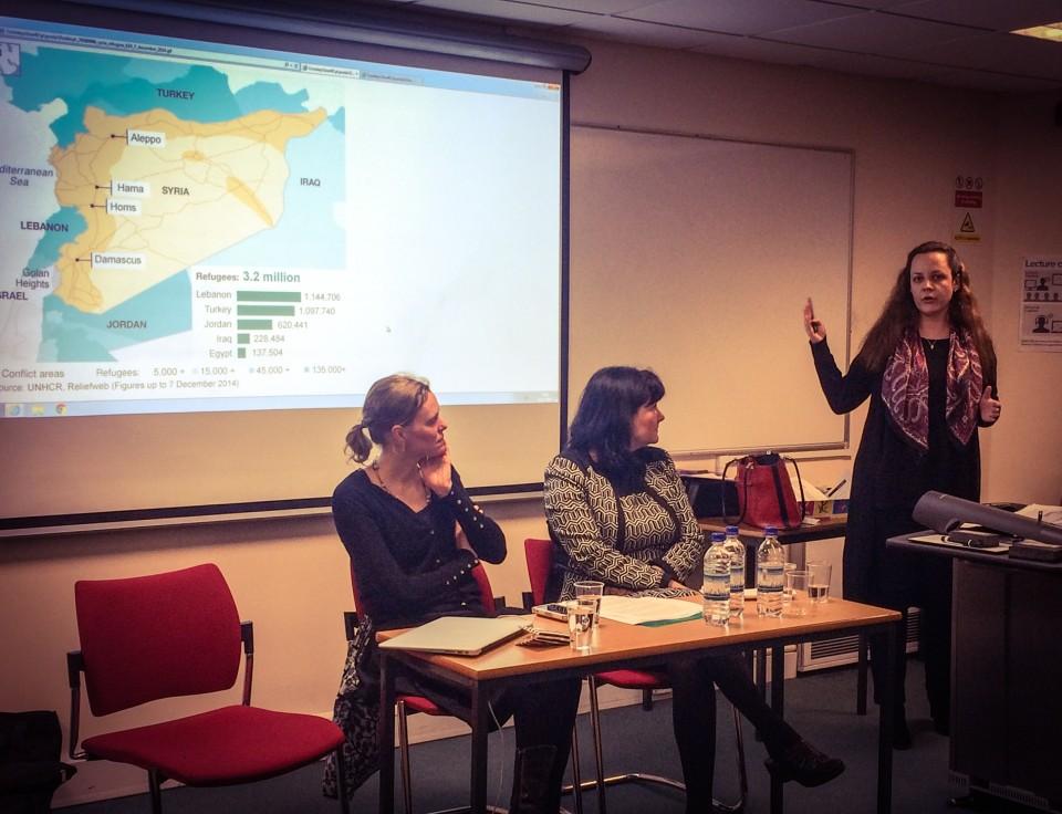 Dr. Nadejda Marinova of Wayne State University, presenting. (Credit: Dzeneta Karabegovic, 2015)
